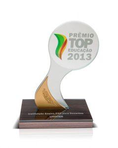 Prêmio Top Educação 2013 - Instituição de Ensino EAD para Docentes