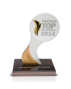 Prêmio Top Educação 2014 - Instituição de Ensino EAD para Docentes